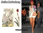 In Rihanna's Closet - Stella McCartney Botanical-Print Mini Skirt