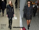 Runway To Heathrow - Victoria Beckham In Burberry Prorsum