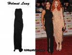 In Cheryl Cole's Closet - Helmut Lang Crepe Cut-Out Maxi Dress
