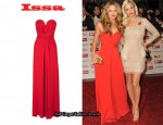 In Kimberley Walsh's Closet - Issa Strapless Silk Dress