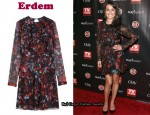 In Lea Michele's Closet – Erdem Marlene Ruffle Front Dress