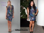 In Jenna Ushkowitz' Closet - Ports 1961 Print Asymmetrical Drape Dress
