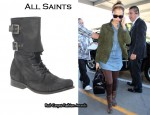 In Jessica Alba's Closet - All Saints Suede Damisi Boots