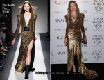 Natalia Vodianova In Balmain - Harper's Bazaar Women Of the Year Awards
