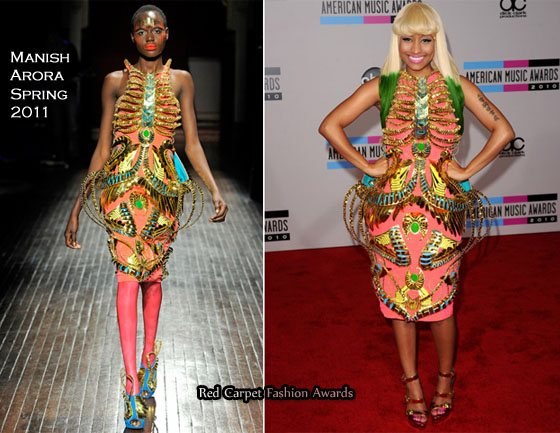 nicki minaj red carpet 2010. Cue Nicki Minaj who took the