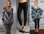 In Ashlee Simpson's Closet - Free People Sweater & J Brand Angus Jeans