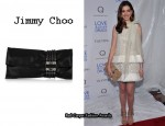 In Anne Hathaway's Closet - Jimmy Choo Chandra Suede Clutch