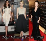 Best Dressed Of The Week - Anne Hathaway In Antonio Berardi, Carey Mulligan in Preen and Olivia Wilde In Michael Kors