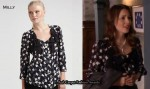 In Blair Waldorf's Closet - Milly Selina Bow Blouse