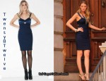 In Blake Lively's Closet - Twenty8Twelve Navy Vaccaro Dress