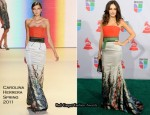 Camilla Belle In Carolina Herrera - 2010 Latin Grammy Awards