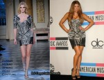 Fergie In Zuhair Murad - 2010 Amercian Music Awards Press Room