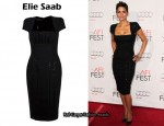In Halle Berry's Closet - Elie Saab Structured Dress