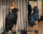 Hilary Swank In Marchesa - Academy Of Motion Picture Arts And Sciences' 2nd Annual Governors Awards
