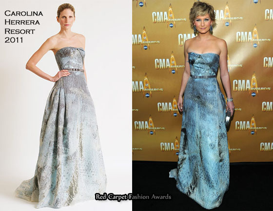 "Jennifer Nettles In Carolina Herrera â€"" 2010 CMA Awards Â« Red  swimsuits 1 piece casting models maternity sleepwear nursing pajamas"