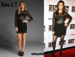 In Kourtney Kardashian's Closet - Kova & T Willow Dress