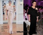 Melanie Chisholm In Victoria Beckham - London Evening Standard Theatre Awards