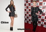 In Mia Wasikowska's Closet - Chloe Plaid Mini Dress