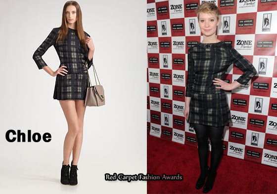 Chloe Plaid Mini Dress