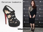 In Julianne Moore's Closet - Christian Louboutin Larissa Plato Suede Sandals
