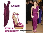 In Natalie Portman's Closet - Lanvin Draped Wrap Dress & Stella McCartney Heels