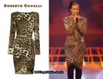 In Rebecca Ferguson's Closet - Roberto Cavalli Leopard-Print Dress