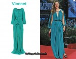 In Rebecca Hall's Closet - Vionnet Split-Sleeve Gown