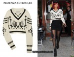 In Rihanna's Closet – Proenza Schouler Cropped Sweater