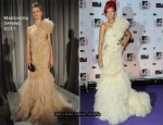Rihanna In Marchesa - 2010 MTV EMAs