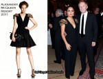 Salma Hayek In Alexander McQueen - WWD CEO Summit And Keynote Dinner