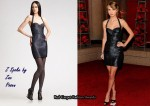 In Taylor Swift's Closet - Z Spoke by Zac Posen Metallic Halter Dress