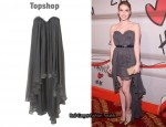 In Emma Roberts Closet - Topshop Limited Edition Tail Bandeau Dress