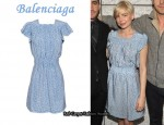 In Michelle Williams' Closet - Balenciaga Silk Dot Dress