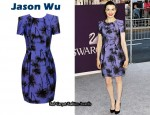 In Rachel Weisz Closet - Jason Wu Violet Daffodil Print Dress
