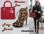 In Nicky Hilton's Closet - Lady Dior Bag & Tory Burch Halima Leopard Booties