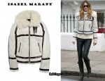 In Elle Macpherson's Closet - Isabel Marant Michal Shearling Suede Jacket