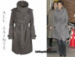 In Halle Berry's Closet - All Saints Nahara Trench Coat