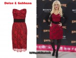 In Christina Aguilera's Closet - Dolce & Gabbana Lace Bustier Dress