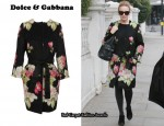 In Kylie Minogue's Closet – Dolce & Gabbana Belted Floral Mohair Coat