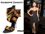 In Selena Gomez' Closet - Giuseppe Zanotti Animal Print Ankle Bow Sandals