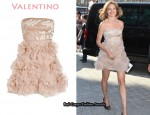 In Natalia Vodianova's Closet - Valentino Rosette-Embellished Silk Dress