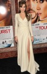 "Angelina Jolie In Atelier Versace - ""The Tourist"" New York Premiere"