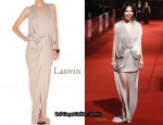 In Vivian Hsu's Closet - Lanvin Satin Twist Dress