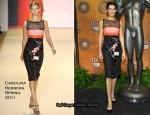 Angie Harmon In Carolina Herrera - Screen Actors Guild Awards Nominations Announcement