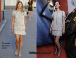 Anna Mouglalis In Chanel - Mi Palazzo Morando Chanel Boutique Re-Opening