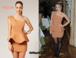 In Kimberley Walsh's Closet - Aqua Dove Dress
