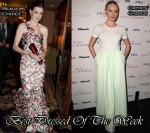 Best Dressed Of The Week - Anne Hathaway Oscar de la Renta & Kate Bosworth In Jil Sander