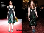 Bonnie Wright In Miu Miu - Miu Miu London Launch Party