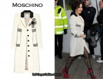In Cheryl Cole's Closet - Moschino Bouclé Wool Coat