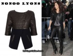 In Cheryl Cole's Closet - Nonoo Lyons Quilted Leather Jacket & Alexander Wang Freja Ankle Boots